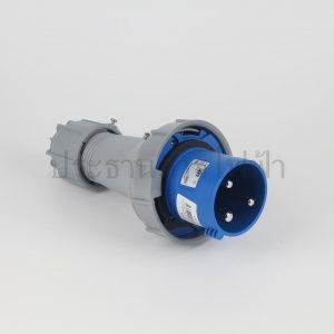 ปลั๊กเพาเวอร์กันน้ำ 2P+E สีน้ำเงิน IP67