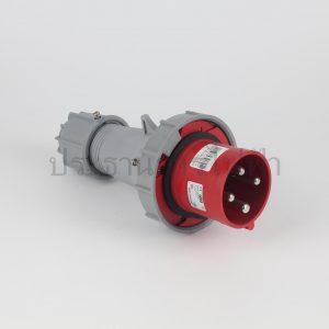 ปลั๊กเพาเวอร์กันน้ำ 3P+E สีแดง IP67