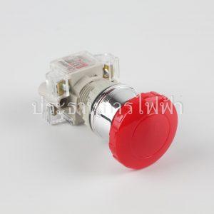 T2BMRR-1C สวิตช์กดดอกเห็ด 22มม สีแดง 1a1b tend