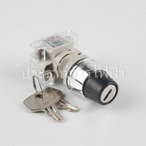 T2KSR22-1C สวิตช์กุญแจ 22มม 2จังหวะบิดล็อคกุญแจ 1a1b สีดำ tend