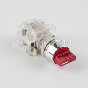 T2ISR4R-1C3 สวิตช์ลูกศรมีไฟต่อตรง 22มม 220V 3จังหวะ 1aO1a สีแดง tend