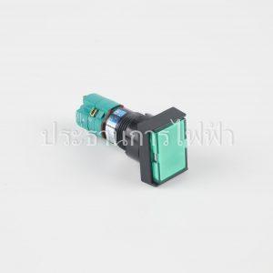T16-IL2 สวิตช์กดล็อคหน้ายาวมีไฟ สีเขียว 16มม 220V 1a1b