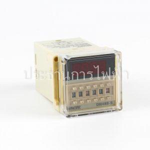 DH48S-S ทวินไทเมอร์ 8ขากลม Timer TWIN 0.01s-99.0h AC 220V pacific