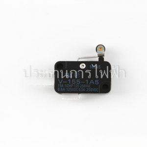 V-155-1A5 ก้านสั้นติดลูกล้อ 2ขา 15A mini Basic Switch Omron