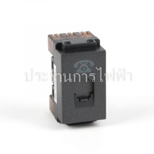 PCH-906C-BK สีดำ เต้ารับโทรศัพท์ ช้าง
