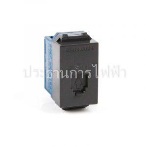 WEG2164H เต้ารับโทรศัพท์ 6P 4C สีเทาดําเงา Panasonic