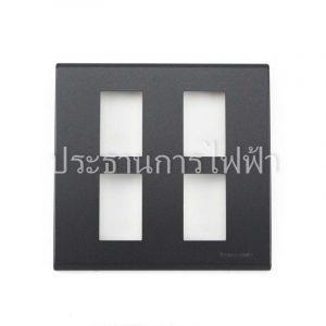 WEG6804MB ฝาพลาสติก 4 ช่อง สีเทาดำ pana