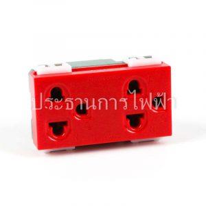 WEG15929R เต้ารับคู่มีกราวด์ สีแดง panasonic