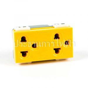 WEG15929Y ปลั๊กกราวคู่ สีเหลือง panasonic