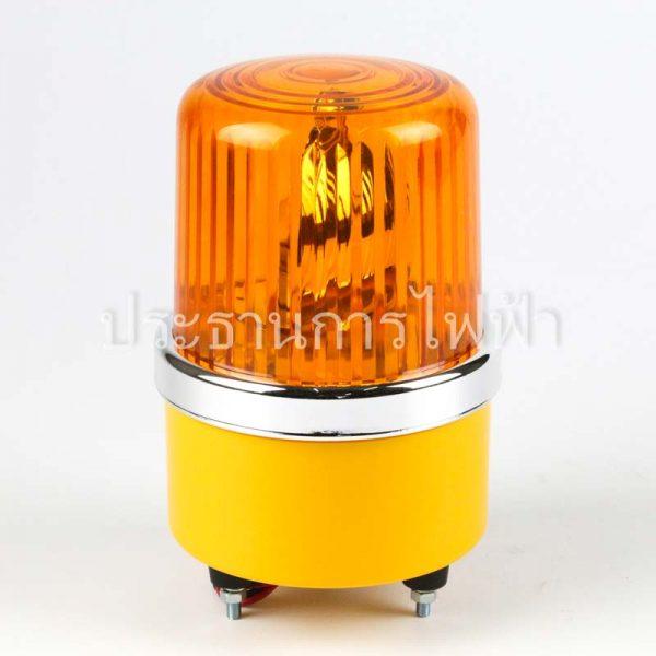 "NO1-220 ไฟหมุน 4"" สีเหลือง 220VAC AMBER bigone"