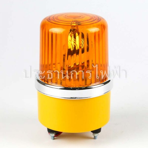 "NO1-24 ไฟหมุน 4"" สีเหลือง 24VDC AMBER bigone"