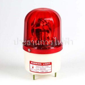 "LTE-1101 ไฟหมุน 4"" หัวนูน12เหลี่ยมใส 24V สีแดง PNC"